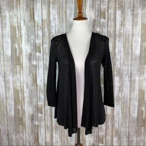 Urban Outfitters Pins & Needles Black Draped Cardi